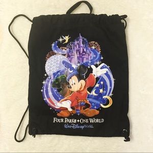 Other - Disney Back Pack Canvas Tote Mickey Mouse
